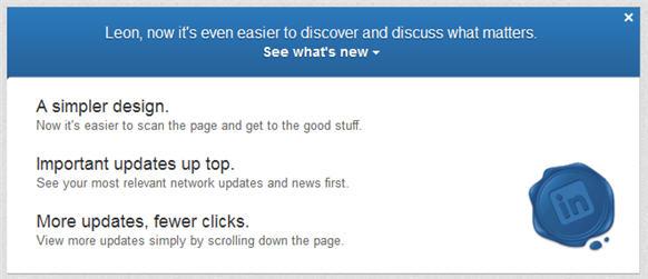 Discover new LinkedIn design 2012 - LinkedIn