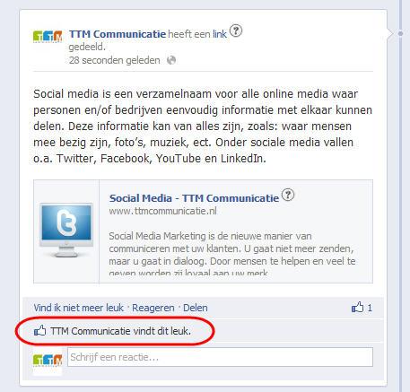 Fanpage update leuk vinden lukt niet - Facebook Kennisbank