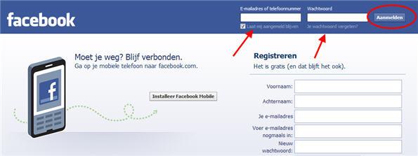 Inloggen op Facebook - Facebook Kennisbank
