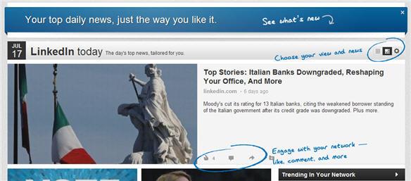 LinkedIn Today nieuw design - LinkedIn