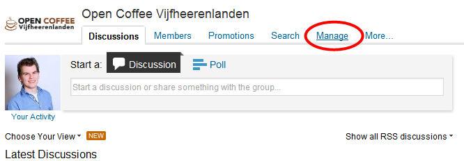 Manage Groups - LinkedIn Kennisbank