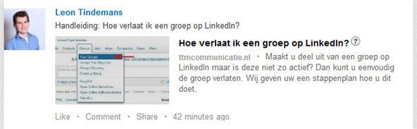 Nieuw formaat afbeelding LinkedIn status update - LinkedIn
