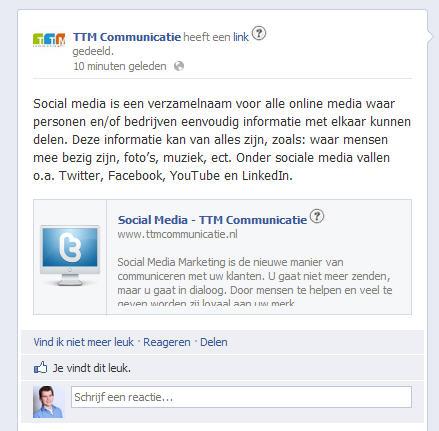 Zakelijke update liken met prive profiel - Facebook Kennisbank