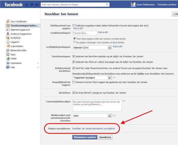 Facebook Verwijderen Facebook Help Verwijderen Facebook ...