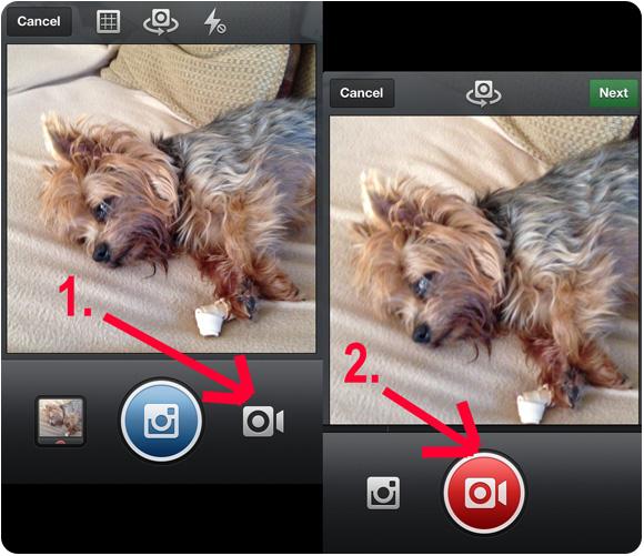 video opnemen instagram