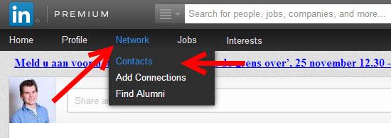 Connectie verwijderen op LinkedIn 2013 - Stap 1